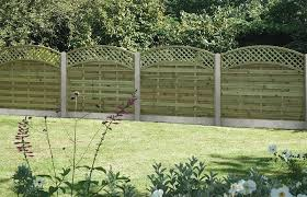 arched lattice top fence panel
