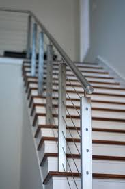 Square Steel Posts And Cable Railing By Indital Steel Railing Design Stainless Steel Stair Railing Stainless Steel Cable Railing