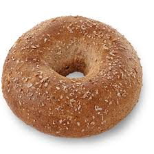 whole wheat bagel with light cream