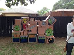 angrybirds life-size backyard party game