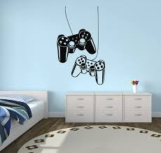 Amazon Com West Mountain Playstation Controllers Gaming Joystick Wall Decal Home Decor Art Vinyl Sticker Home Kitchen