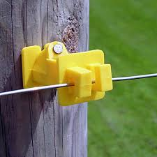 Slant Nail Yellow Electric Fence Insulators Zareba