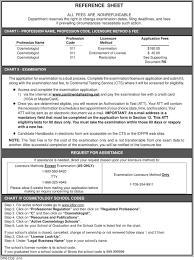 instruction sheet cosmetologist
