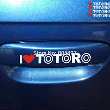40 X Newest Car Styling Cartoon Lovely Cat I Love Totoro Car Sticker Decal For Toyota Ford Focus Chevrolet Volkswagen Tesla Lada Car Stickers Decals For Toyotacar Styling Aliexpress