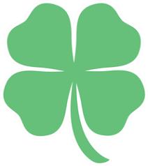 Four Leaf Clover St Patricks Day Cartoon Sticker