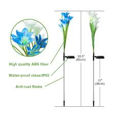stake lights solar garden lily li