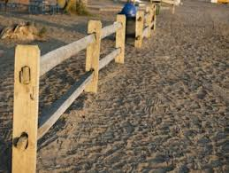 Beach Fence With Sand For Personal And Commercial Use By Clear Image