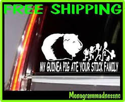 My Guinea Pig Ate Your Stick Family Vinyl Decal Sticker Car Truck Ebay
