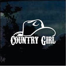 Country Girl Hat Truck Decal Sticker A11 Truck Decals Country Girl Decal Country Girl Sticker