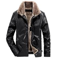 casual mens leather jackets with fur