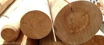 6 Inch X 10 Foot Round Pine Wood Poles 2 Pack W6x10p 2pk
