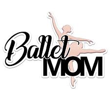 Ballet Dancer Mom Color Vinyl Sports Car Laptop Sticker 6