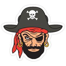 Pirate Skull Stickers Car Decals