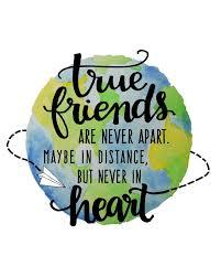 com true friends are never apart friendship quotes wall