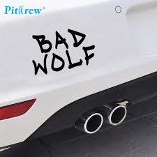 2019 1pc 7 14cm Funny New Style Bad Wolf Car Sticker Wall Vinyl Window Hand Body Decal Sticker Personality Car Styling Car Sticker Car Stylingdecal Sticker Aliexpress