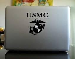 Amazon Com Usmc United States Marine Corpes Vinyl Car Sticker Symbol Silhouette Keypad Track Pad Decal Laptop Skin Ipad Macbook Window Truck Motorcycle Home Kitchen