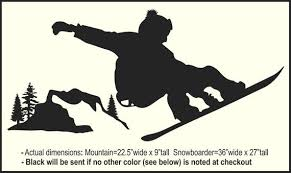 snowboard wall decal sticker mural for