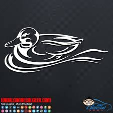 Swimming Duck Vinyl Decal Window Sticker Hunting Decals