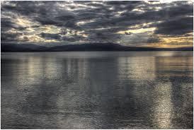 Wallpaper : sunlight, sunset, sea, lake, reflection, sky, clouds ...