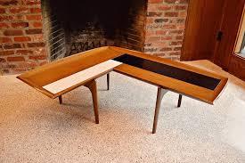 l shaped boomerang coffee table