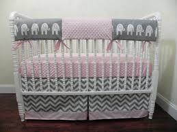 baby girl elephant crib bedding set