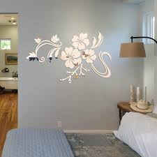 Art Flower 3d Mirror Vinyl Removable Wall Sticker Decal Home Decor Diy Acrylic Floral Reflecting Wall Background Stickers Wall Decal Printing Wall Decal Quotes From Fashion Wallart 16 63 Dhgate Com