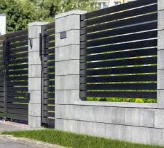 Modular Fence System Roma Classic Concrete Fences Producer Of Fences Posts Blocks And Hollow Bricks Modern Fence Design Concrete Fence Fence Gate Design