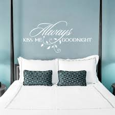 Always Kiss Me Goodnight Loving Art Wall Decal Removable Decorative Vinyl Sticker Home Decor Decor Wall Sticker Decorative Stickers For Windowssticker Security Aliexpress