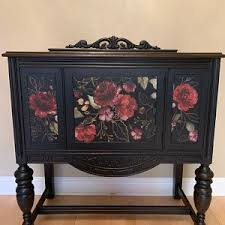 Rub On Transfers For Furniture Furniture Decals Redesign With Prima Transfers Royal Burgundy Rose Furniture Transfers 44 X 30 In 2020 Floral Furniture Paint Furniture Shabby Chic Furniture