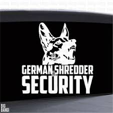 Funny German Shepherd Security Vinyl Decal Sticker Shredder K9 Bite Guard Dog Ebay