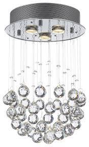 rain drop crystal ball ceiling lamp
