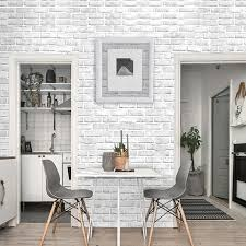 Home Decor 3d Wallpaper Pvc White Brick Wall Stickers Paper Self Adhesive Kitchen Sticker Room Kitchen Wallpaper Wallpapers Aliexpress