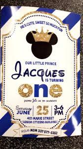 Royal Prince Mickey Birthday Invitation Cumpleanos De Mickey