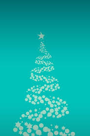 simple christmas tree blue ilration
