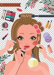 cosmetics make up cartoon editor