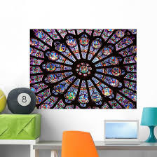 Stained Glass Window Notre Dame Cathedral Wall Decal Wallmonkeys Com