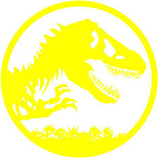 Amazon Com Ruki Jurassic Park Dinosaur The Lost World Wall Decal Vinyl Sticker Game Room Decor 24 X 24 Yellow Home Kitchen