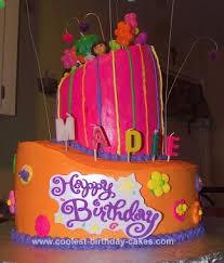coolest topsy turvy dora cake