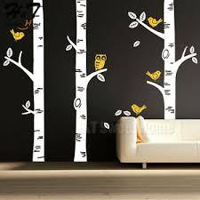 Large Birch Tree Birds Owl Forest Vinyl Wall Decal Sticker Kids Nursery Decor Ebay
