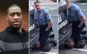 George Floyd, um homem negro que foi asfixiado por um policial branco e morreu, em Minneapolis