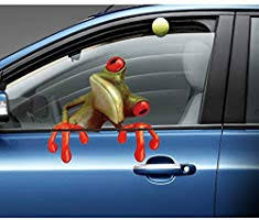 Amazon Com Adam Victor Removable Creative 3d Peep Frog Funny Car Stickers Truck Window Decal Graphics Sticker 4 Sheets Wall Decals Kids Room Decorations Art Decor Stickers Nursery Birthday Gifts Sticker Home
