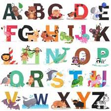 H2mtool Alphabet Wall Decals Removable Animal Abc Wall Stickers For Kids Nursery Room Decor Alphabet
