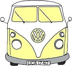 Amazon Com Vw Camper Tumblr Aesthetic Yellow Sticker Decal Window Bumper Sticker Vinyl 5 Automotive