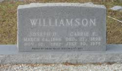 Carrie Belle Perry Williamson (1898-1975) - Find A Grave Memorial