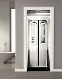3d Subway Gate Self Adhesive Door Sticker Murals Bedroom Wall Decal Home Decor Ebay
