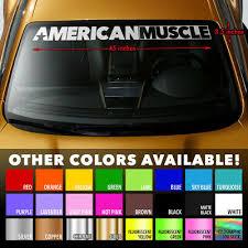 American Muscle Car Murica Windshield Banner Premium Vinyl Decal Sticker 45x3 5 Ebay