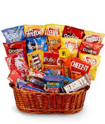 junk food snack baskets delivered today