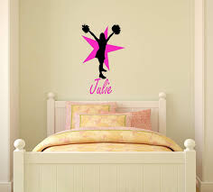 Amazon Com Aluckyhorseshoe Cheerleader Personalized Wall Decal Team Sport Sticker Girls Cheer Decal Teen Girl Bedroom Name Decor Childs Room Sport Decor 28 X 46 Inches 28 X 34 Inches Home Kitchen
