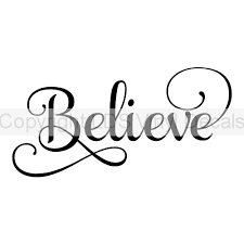 Believe Fancy Christmas Vinyl Wall Art Holiday Vinyl Lettering And Words Decals For Crafts And Gifts