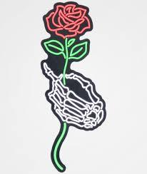 Nohours Skeleton Hand Rose Sticker Zumiez